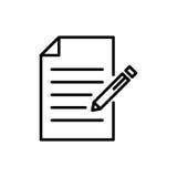 Ícone ou logotipo superior de original na linha estilo Foto de Stock