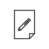 Ícone ou logotipo superior de original na linha estilo Fotos de Stock Royalty Free