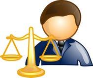 Ícone ou símbolo da carreira do advogado ilustração stock