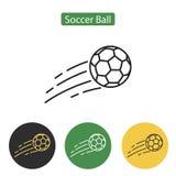 Ícone ou sinal da bola de futebol Imagens de Stock Royalty Free