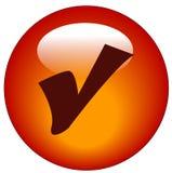 Ícone ou tecla do Web da marca de verificação ilustração royalty free