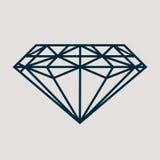 Ícone para bens da joia tais como o diamante clássico Fotografia de Stock Royalty Free