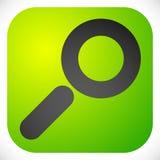 Ícone para a busca, detalhes, zumbido, conceitos da pesquisa com lente de aumento ilustração do vetor