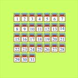 Ícone para cada dia de calendário Foto de Stock Royalty Free