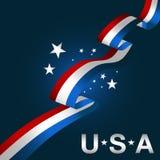 Ícone patriótico do fundo dos EUA Imagens de Stock Royalty Free
