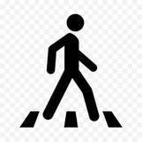 Ícone pedestre ilustração stock