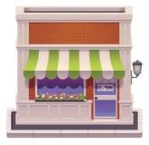 Ícone pequeno da loja do vetor ilustração stock