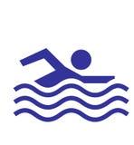 Ícone permitido nadador imagem de stock