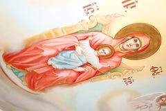 Ícone pintado na parede Imagens de Stock Royalty Free