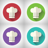 Ícone principal do alimento de Symbol Toque Cuisine do cozinheiro sobre ilustração do vetor