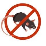 Ícone proibido rato do sinal ilustração do vetor