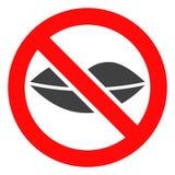 Ícone proibido vetor do beijo ilustração royalty free