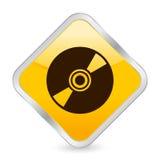 Ícone quadrado amarelo CD ilustração stock