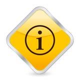Ícone quadrado amarelo da informação ilustração royalty free