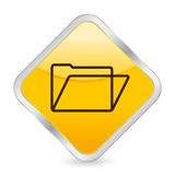 Ícone quadrado amarelo do dobrador ilustração royalty free