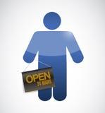 Ícone que guarda uma ilustração de suspensão aberta do sinal Foto de Stock Royalty Free