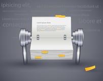 Ícone que lê o diário do papel para notas Imagens de Stock