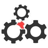 Ícone quebrado da quadriculação do mecanismo de engrenagem ilustração royalty free