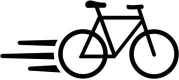 Ícone rápido da bicicleta do correio Fotos de Stock
