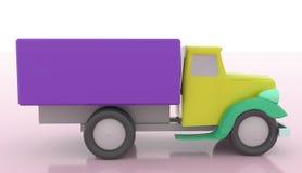 Ícone rápido da entrega do caminhão dos desenhos animados isolado no fundo branco ilustração royalty free