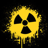 Ícone radioativo ilustração do vetor