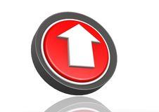 Ícone redondo da transferência de arquivo pela rede Fotografia de Stock Royalty Free