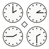 Ícone redondo do quoter da hora dois do relógio do relógio de ponto vetor simples do meio Fotos de Stock Royalty Free