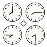 Ícone redondo do quoter da hora oito do relógio do relógio de ponto vetor simples do meio Imagem de Stock