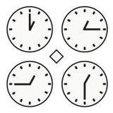 Ícone redondo do quoter da hora uma do relógio do relógio de ponto vetor simples do meio Fotografia de Stock