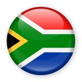 Ícone redondo do vetor da bandeira de África do Sul Zealand ilustração stock