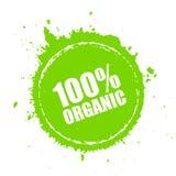 Ícone redondo do vetor do produto orgânico Foto de Stock Royalty Free