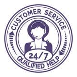 Ícone redondo para não o serviço ao cliente da parada no branco Foto de Stock Royalty Free