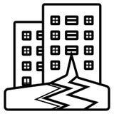 Ícone relacionado do vetor do terremoto ilustração royalty free