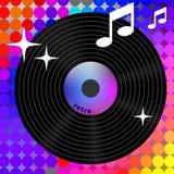 Ícone retro da música do arco-íris Fotografia de Stock