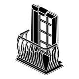 Ícone retro do balcão, estilo simples ilustração do vetor