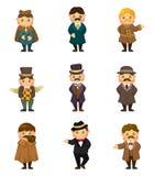 Ícone retro do cavalheiro dos desenhos animados Imagem de Stock Royalty Free