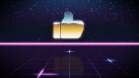 ícone retro do projeto do synthwave do gosto ilustração royalty free