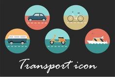 Ícone retro do transporte ilustração royalty free