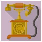 Ícone retro do vetor do telefone do vintage Imagens de Stock Royalty Free