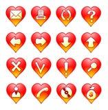 Ícone romântico ilustração royalty free