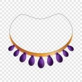 Ícone roxo da colar, estilo dos desenhos animados ilustração royalty free