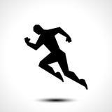 Ícone running do homem Fotografia de Stock