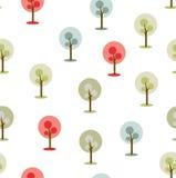 Ícone/símbolo simples das árvores no fundo branco Imagens de Stock