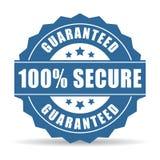 ícone 100 seguro ilustração do vetor