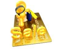Ícone seguro da busca da compra Imagens de Stock Royalty Free