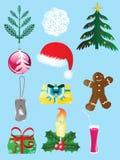 Ícone set-1 do Natal Imagens de Stock Royalty Free