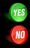 Ícone sim/não. Fotografia de Stock