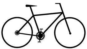 Ícone simples da bicicleta ilustração do vetor