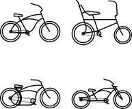 Ícone simples da bicicleta feita sob encomenda fotografia de stock royalty free