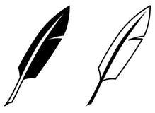 Ícone simples da pena da escrita Versão preto e branco Foto de Stock Royalty Free